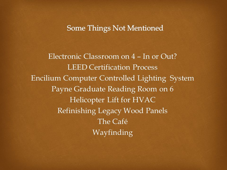 Electronic Classroom on 4 – In or Out.