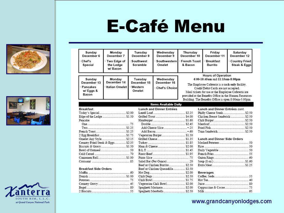 www.grandcanyonlodges.com E-Café Menu