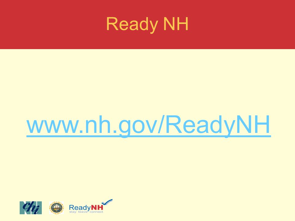 Ready NH www.nh.gov/ReadyNH