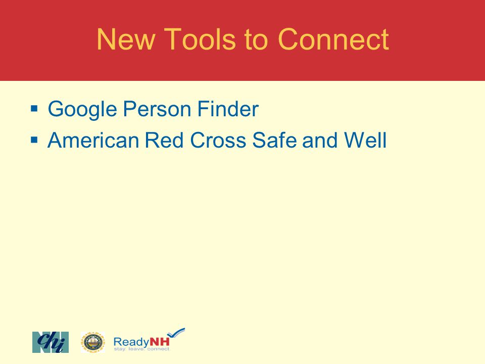 New Tools to Connect Google Person Finder American Red Cross Safe and Well