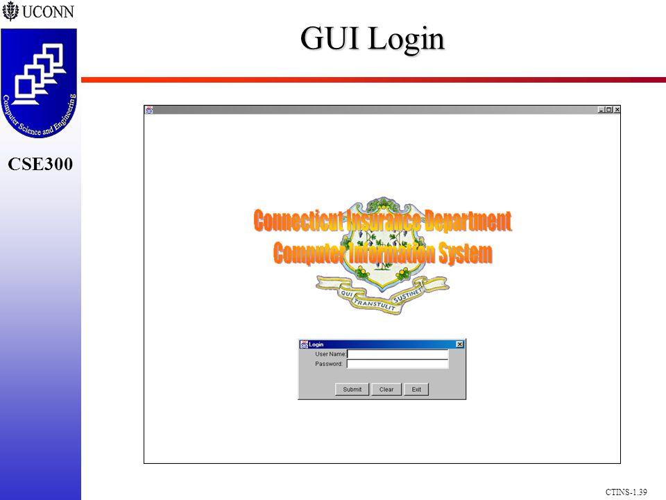 CSE300 CTINS-1.39 GUI Login