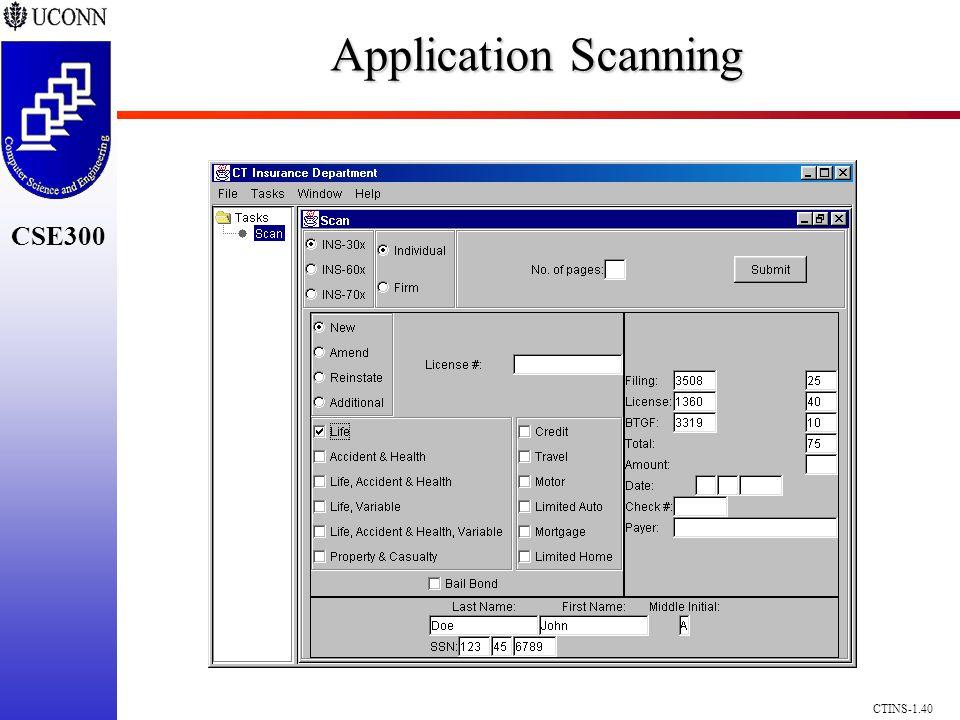 CSE300 CTINS-1.40 Application Scanning