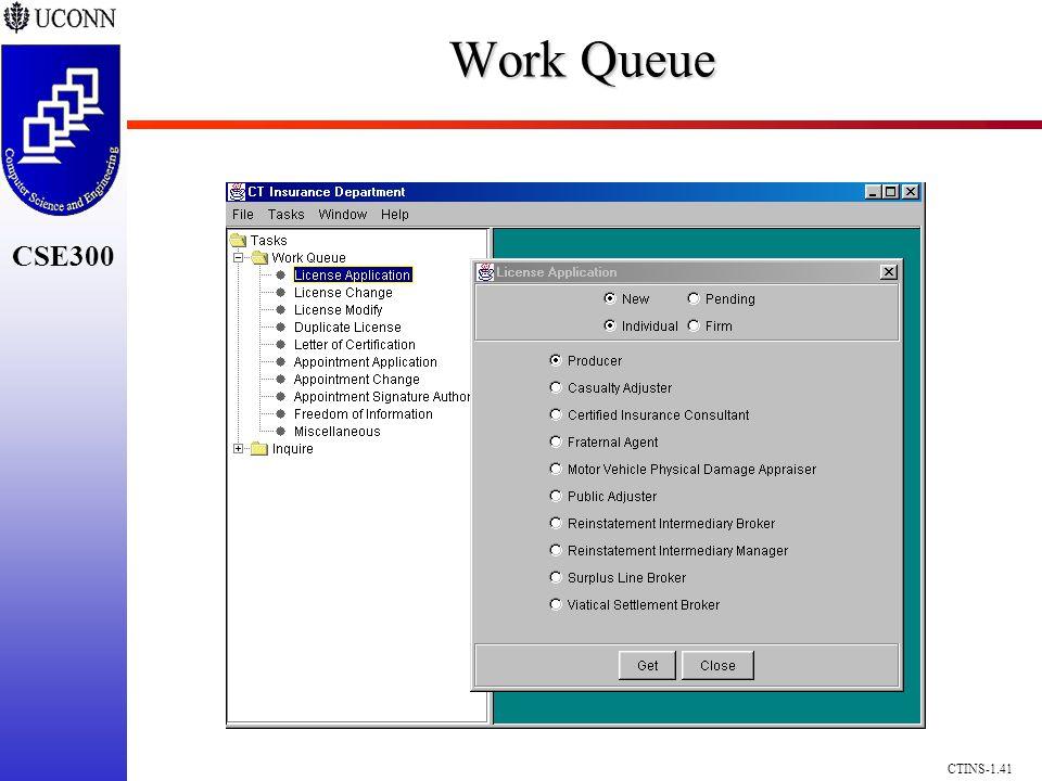 CSE300 CTINS-1.41 Work Queue