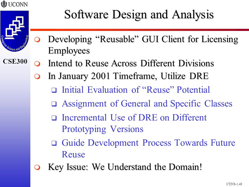 CSE300 CTINS-1.49 Software Design and Analysis Developing Reusable GUI Client for Licensing Employees Developing Reusable GUI Client for Licensing Emp