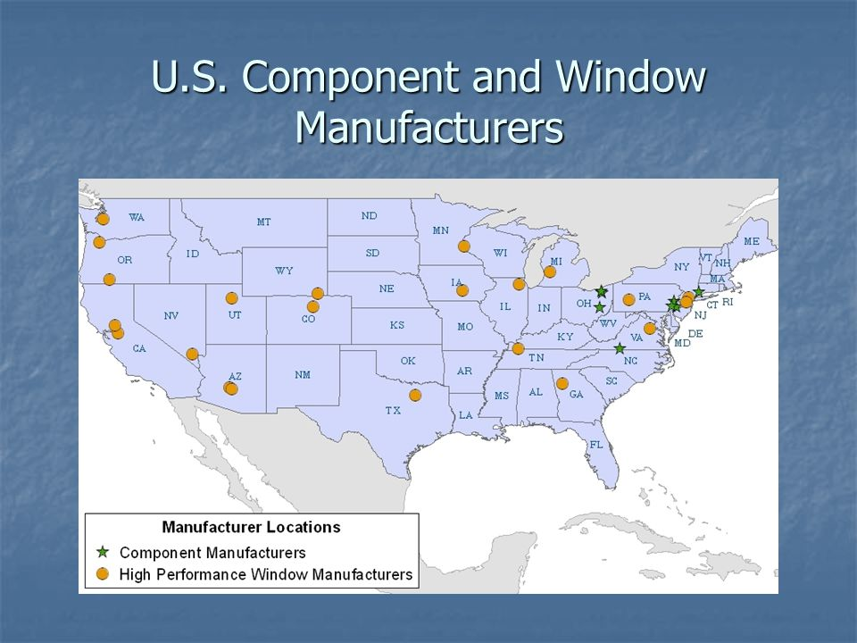 U.S. Component and Window Manufacturers