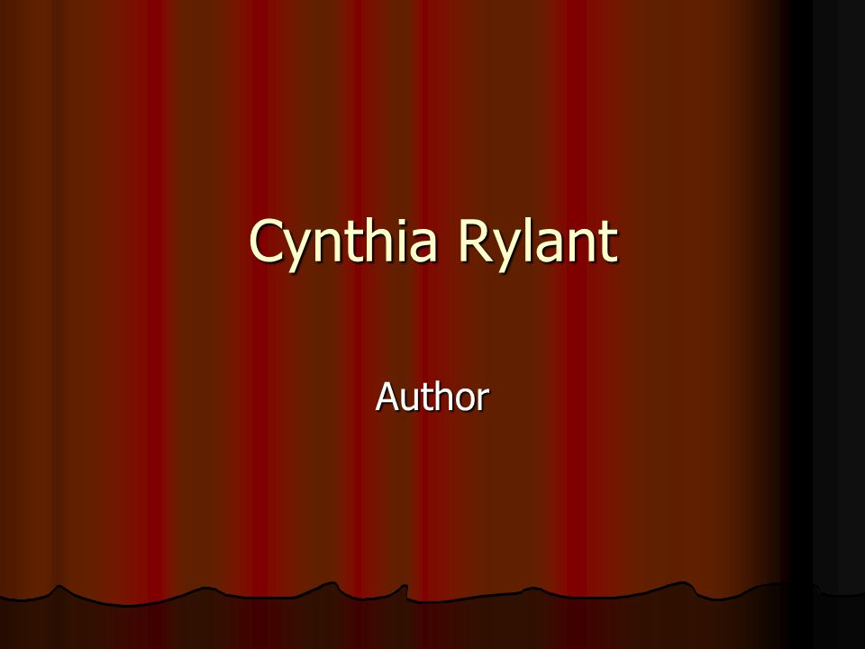 Cynthia Rylant Author