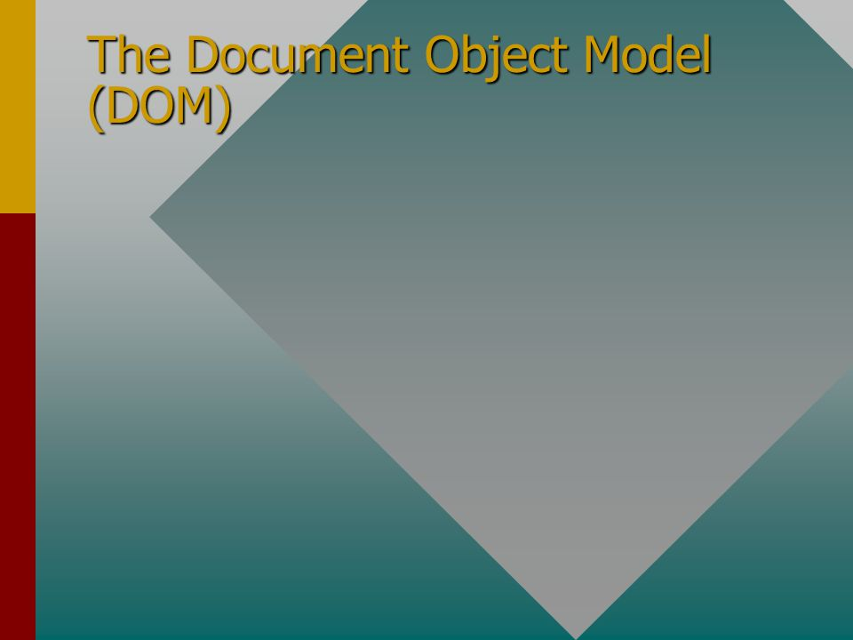 The Document Object Model (DOM)