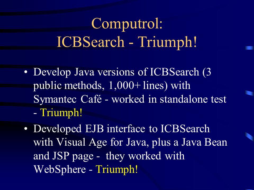 Computrol: ICBSearch - Triumph.