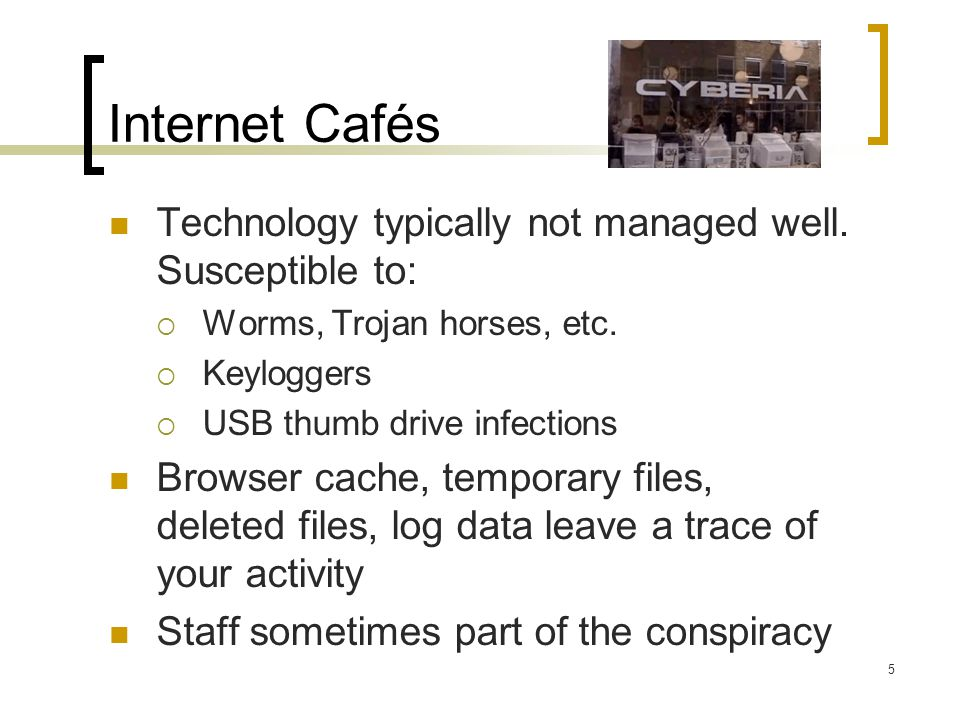 Airports Use same precautions with the public WiFi in airports that you would in any public WiFi hot spot Beware of the oft-seen but bogus Free Public WiFi ad hoc/computer-to-computer wireless network – dont try to connect to it General rule – dont connect to unknown wireless networks 16