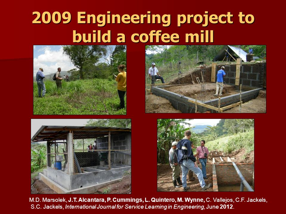 2009 Engineering project to build a coffee mill M.D.