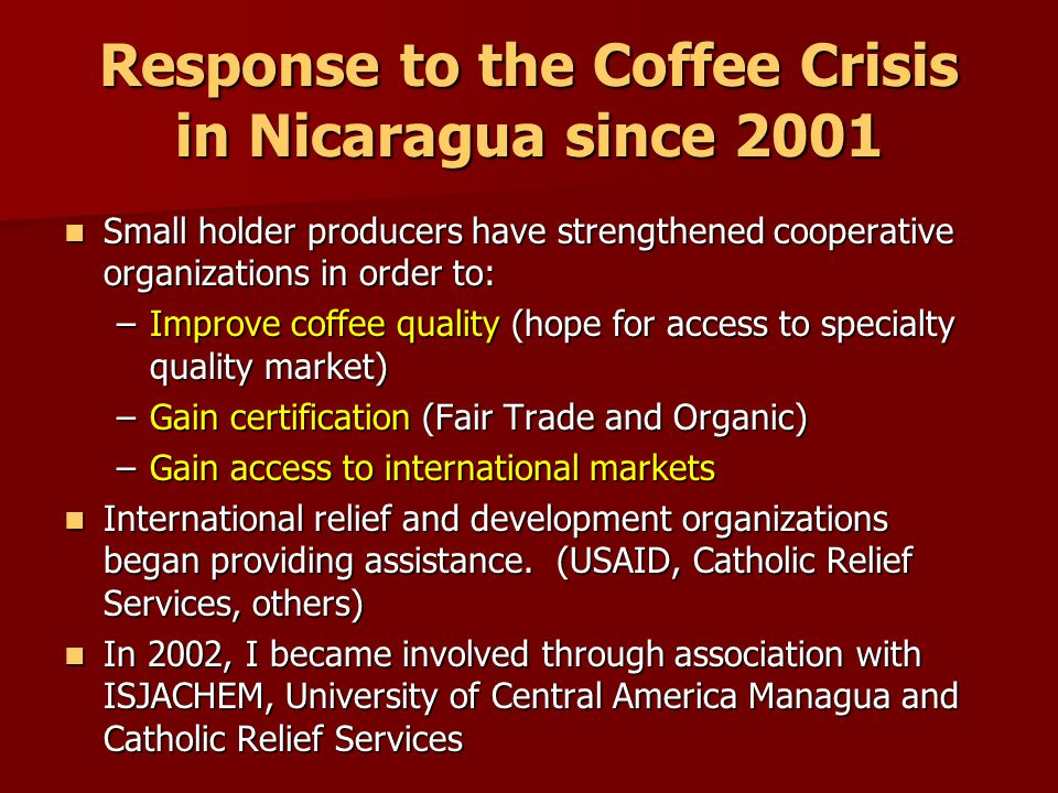 Why improve coffee quality at some expense to quantity.
