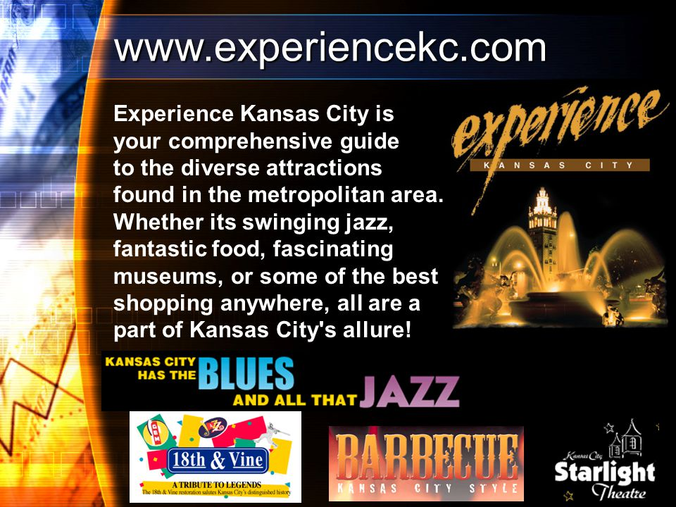 Experience Kansas City is your comprehensive guide to the diverse attractions found in the metropolitan area.