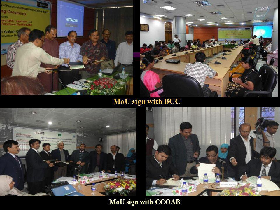 MoU sign with CCOAB MoU sign with BCC