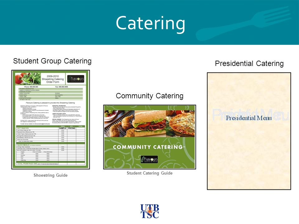Catering Student Group Catering Community Catering Presidential Catering Shoestring Guide Student Catering Guide