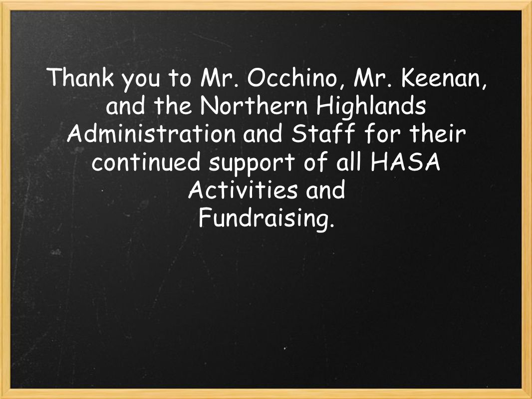 Thank you to Mr. Occhino, Mr.