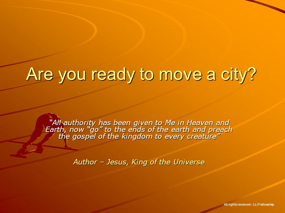 Are you ready to move a city.