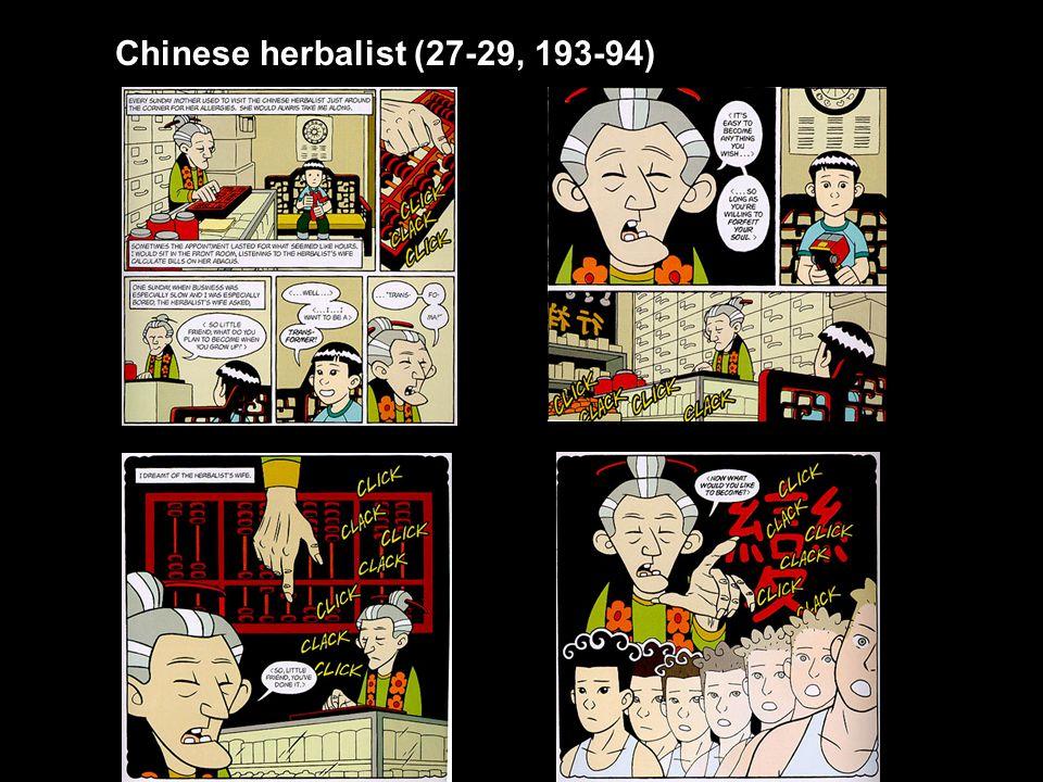 Chinese herbalist (27-29, 193-94)