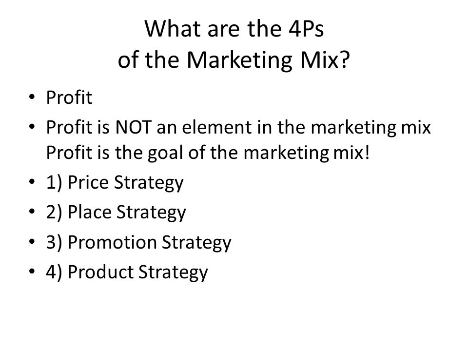 What are the Push and Pull Elements of the Marketing Mix.