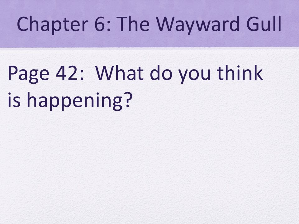 Chapter 6: The Wayward Gull Page 42: What do you think is happening
