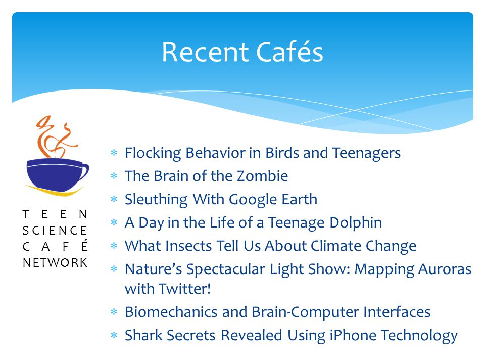 Flocking Behavior in Birds and Teenagers The Brain of the Zombie Sleuthing With Google Earth A Day in the Life of a Teenage Dolphin What Insects Tell