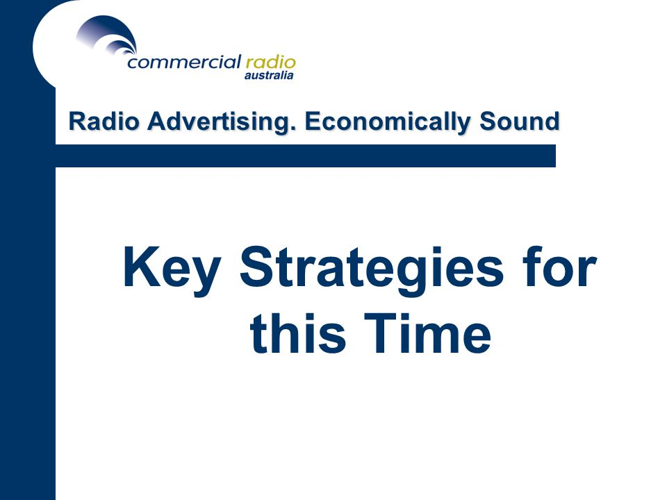 Key Strategies for this Time Radio Advertising. Economically Sound