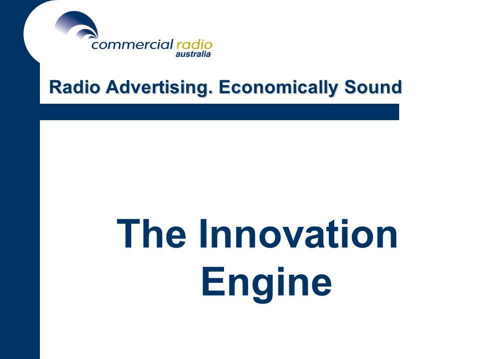 The Innovation Engine Radio Advertising. Economically Sound