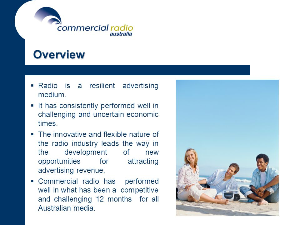 Overview Radio is a resilient advertising medium.