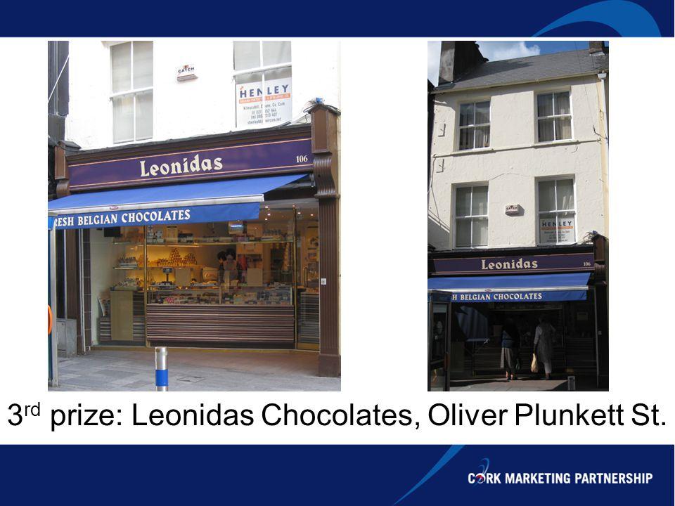 3 rd prize: Leonidas Chocolates, Oliver Plunkett St.