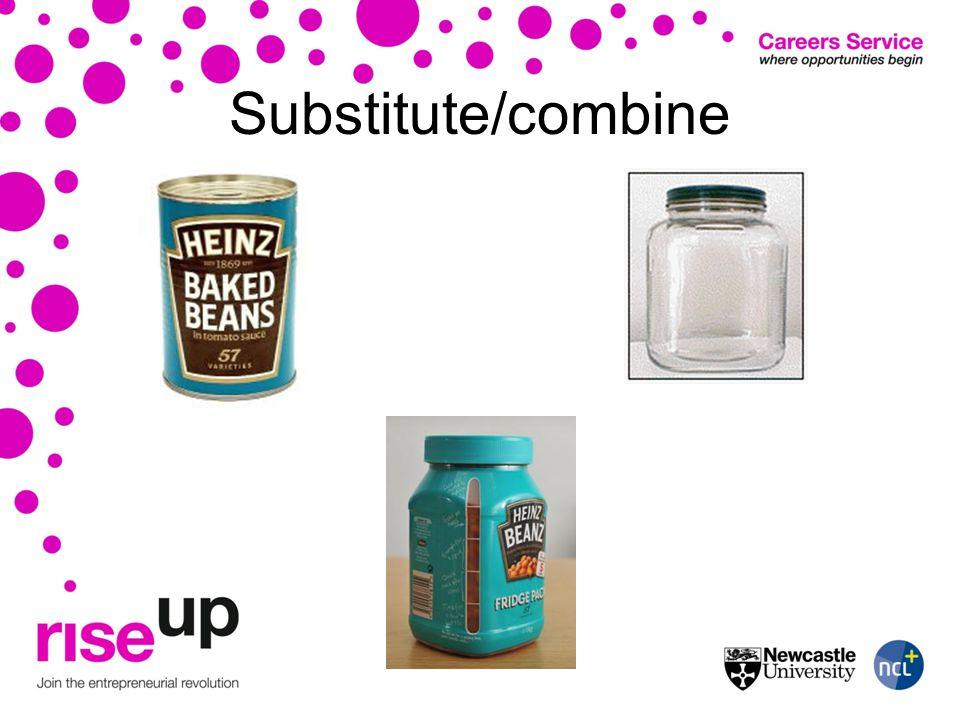 Substitute/combine