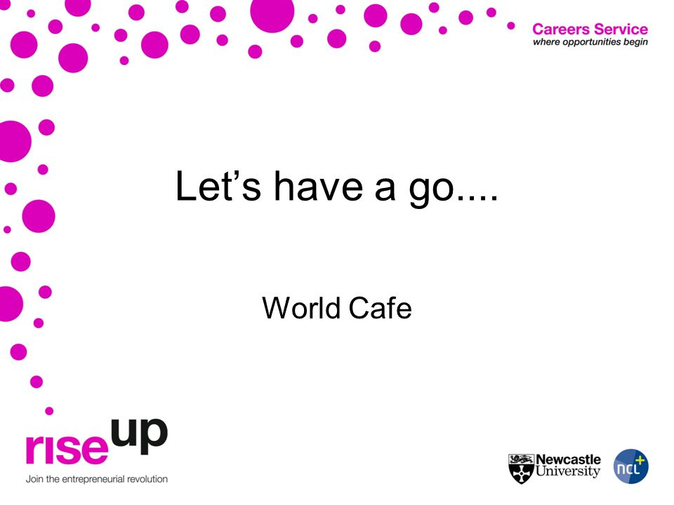 Lets have a go.... World Cafe