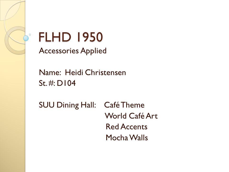 FLHD 1950 Accessories Applied Name: Heidi Christensen St.