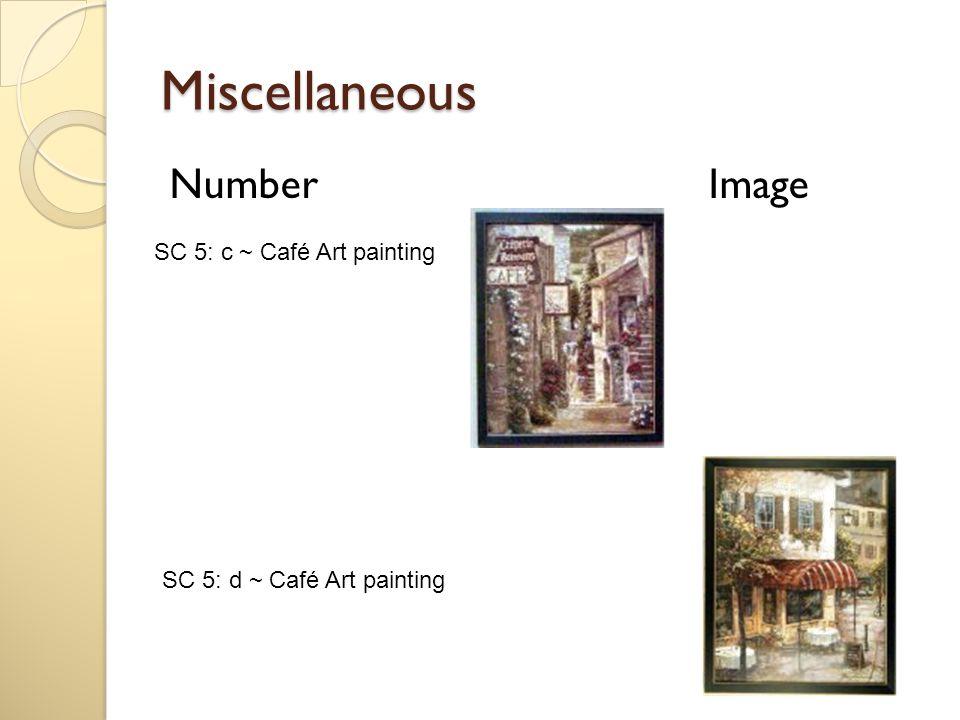Miscellaneous Number Image SC 5: d ~ Café Art painting SC 5: c ~ Café Art painting