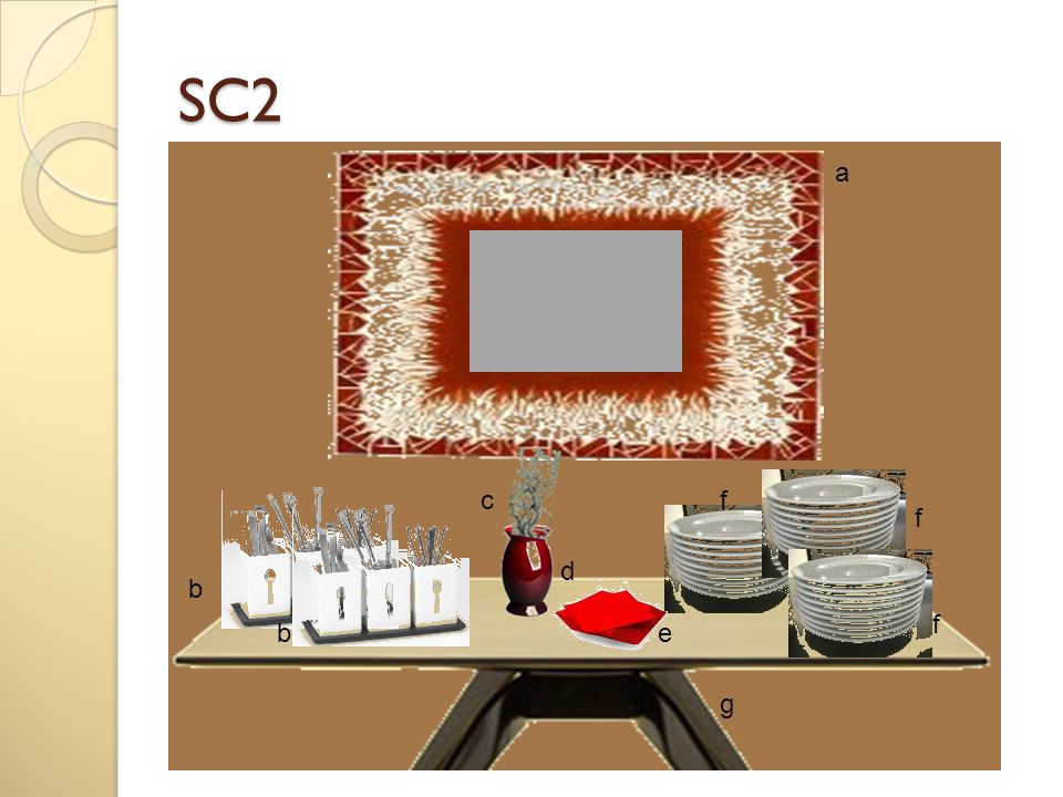 Miscellaneous NumberImage SC 2: a ~ Red mosaic mirror SC 2: b ~ Decorative silverware holders X 2