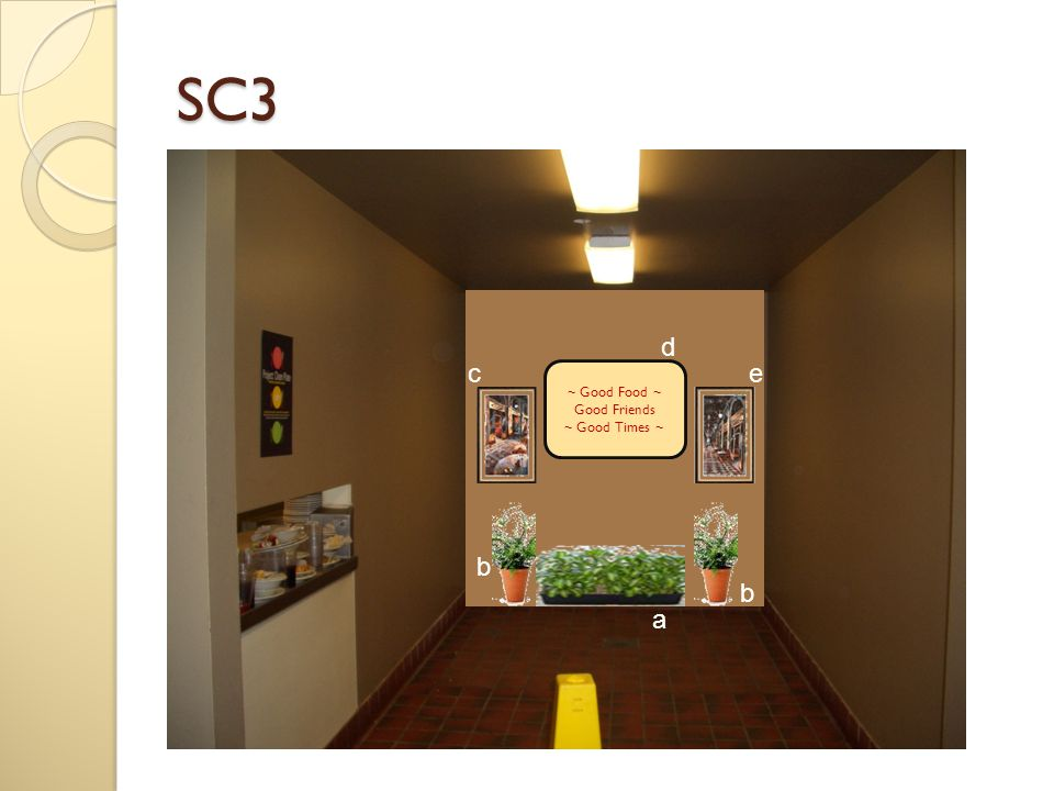 Miscellaneous Number Image SC 3: a ~ Planter box with foliage SC 3: b ~ Pot planted with foliage X 2 SC 3: c ~ Café Art painting