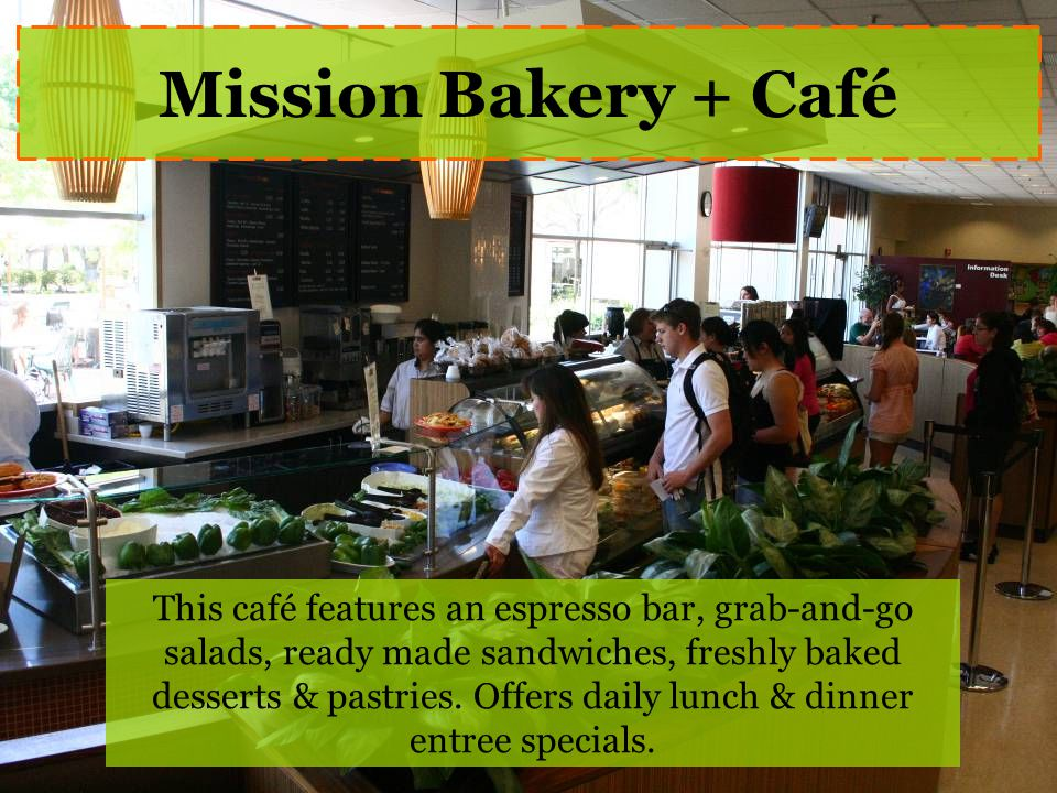 This café features an espresso bar, grab-and-go salads, ready made sandwiches, freshly baked desserts & pastries.