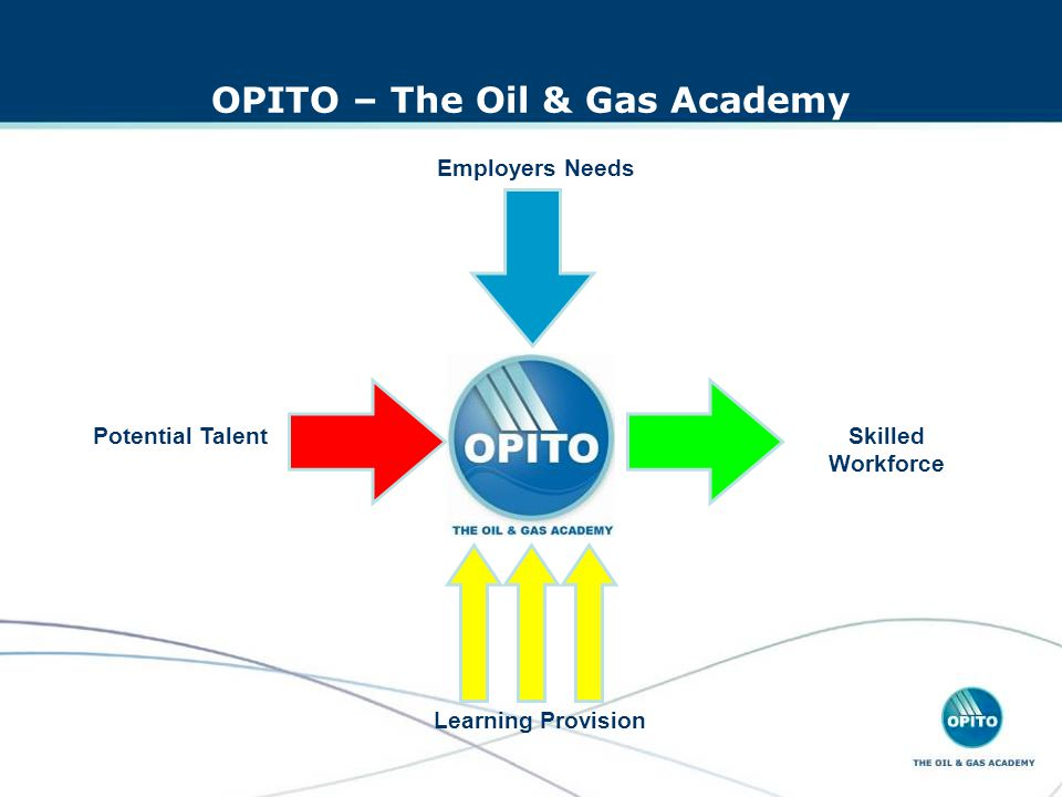 OPITO – The Oil & Gas Academy Potential Talent Employers Needs Skilled Workforce Learning Provision