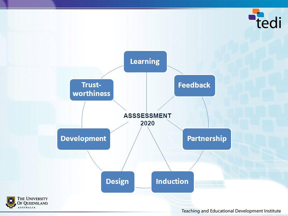 LearningFeedbackPartnershipInductionDesignDevelopment Trust- worthiness ASSSESSMENT 2020
