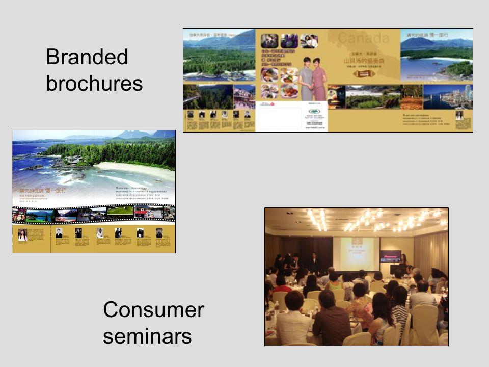 Consumer seminars Branded brochures