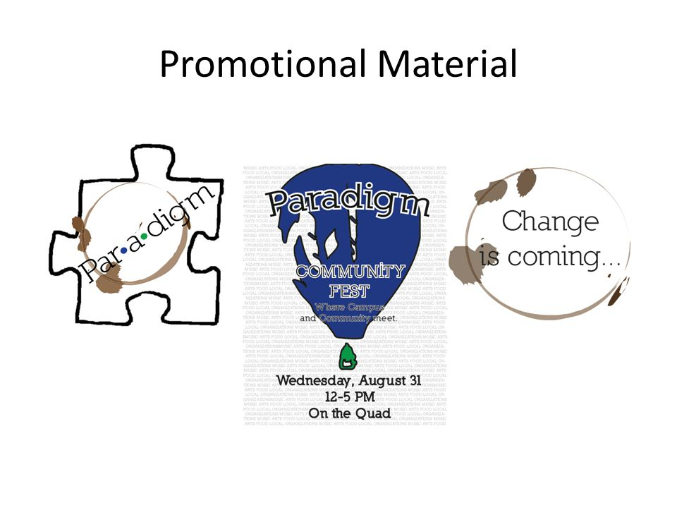 Promotional Material