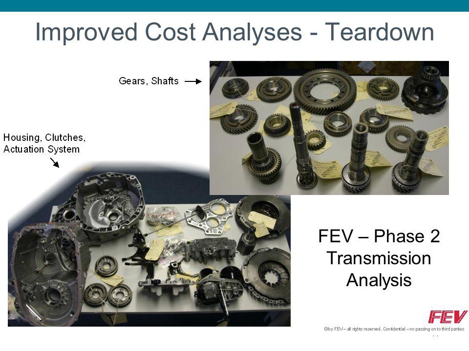 Improved Cost Analyses - Teardown 17 FEV – Phase 2 Transmission Analysis