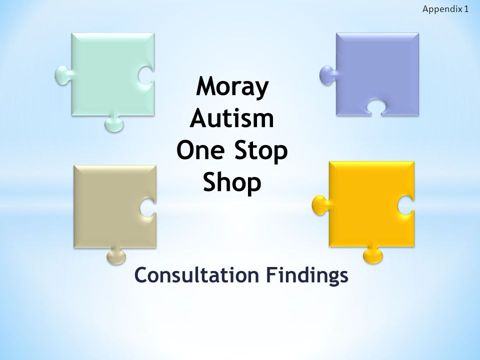 Consultation Findings Moray Autism One Stop Shop Appendix 1