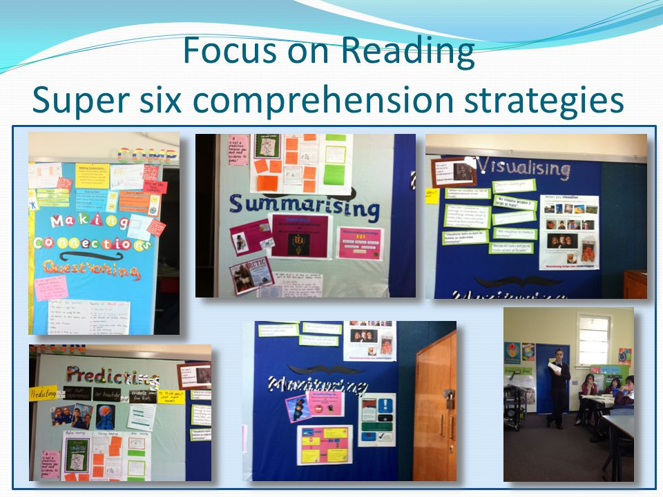 Focus on Reading Super six comprehension strategies
