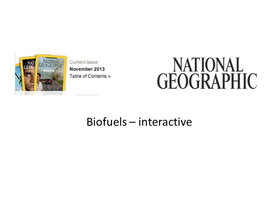 Biofuels – interactive
