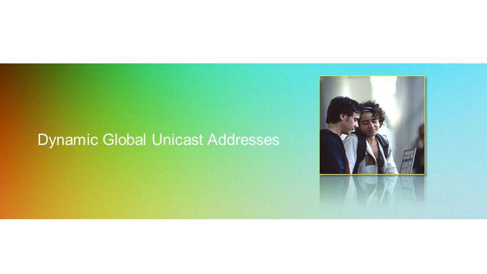 Dynamic Global Unicast Addresses