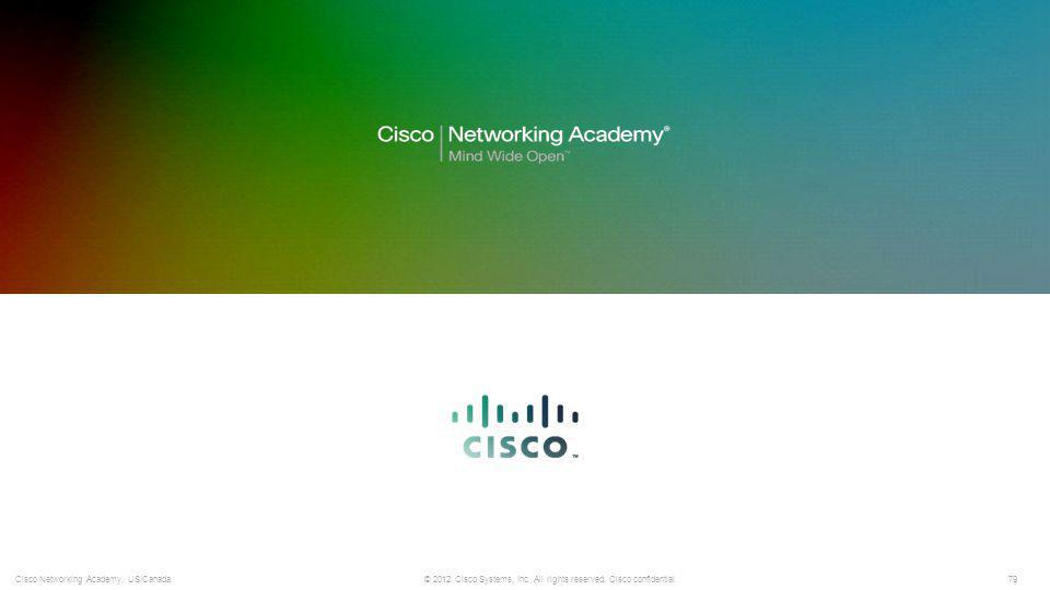79 © 2012 Cisco Systems, Inc. All rights reserved. Cisco confidential.Cisco Networking Academy, US/Canada