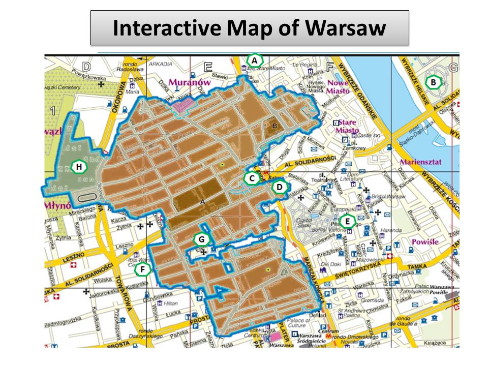 Interactive Map of Warsaw