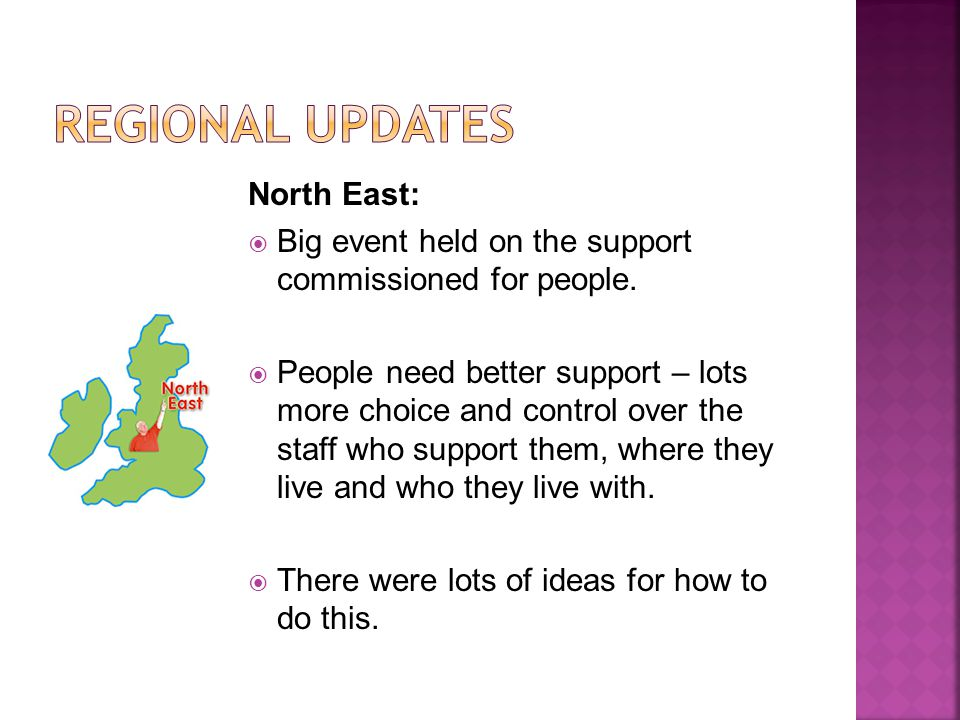 North East: Big event held on the support commissioned for people.