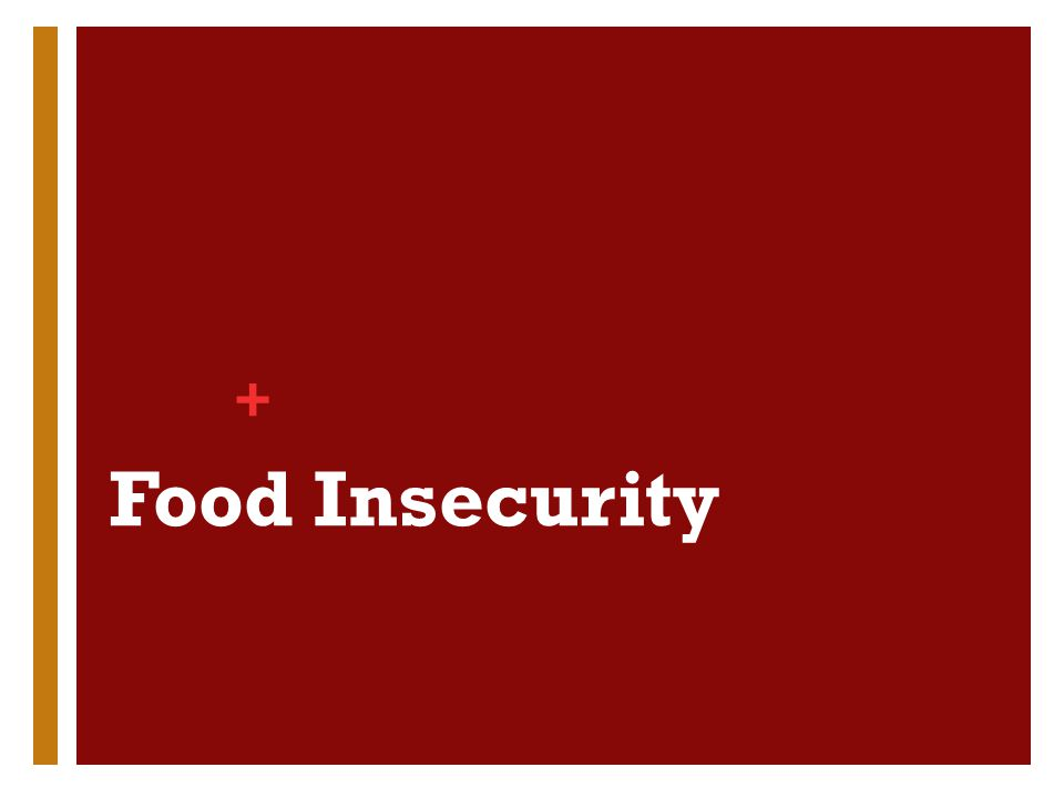 + Food Insecurity