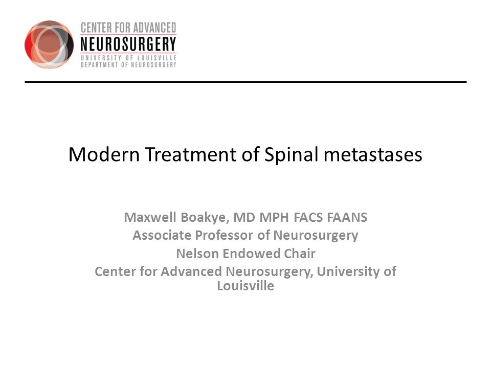 My Background Neurosurgeon Residency 2002 Fellowships-complex spine-Emory and Spine Oncology-Sloan Kettering-2003 Stanford-2003-2010-worked with cyberknife Special interest in spine tumors and spine radiosurgery