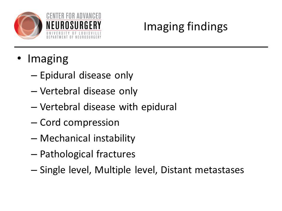 Neurologic-Classification of Epidural compression